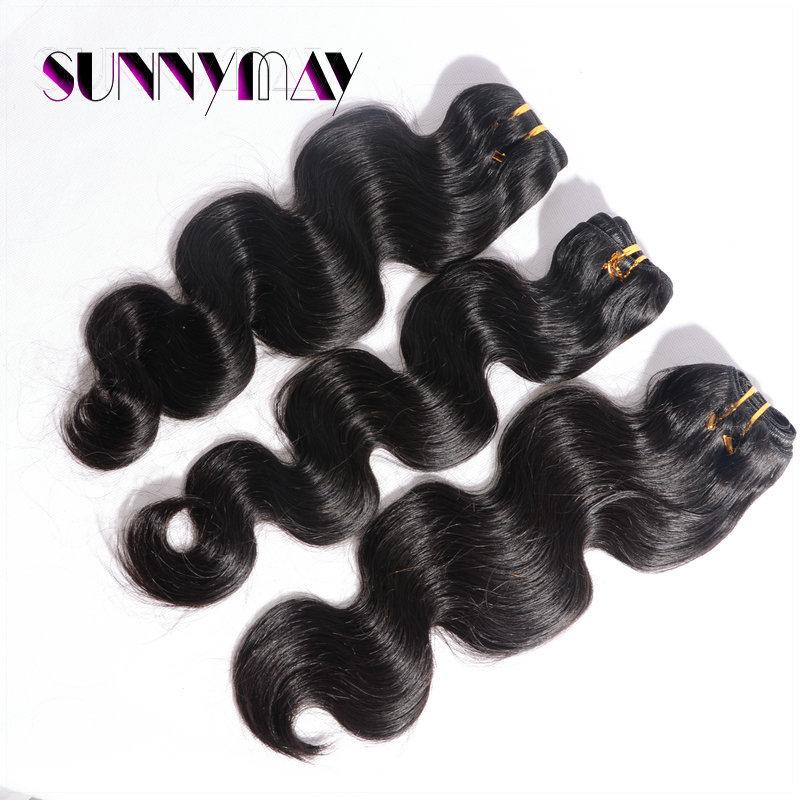 Sunnymay human hair 20 inch Malaysia wavy human Hair,100% Malaysia virgin hair,machine made Weft<br><br>Aliexpress