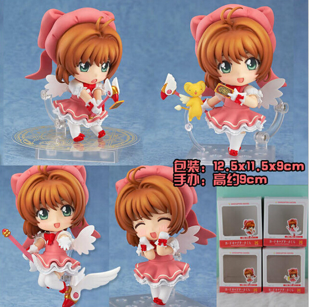 CARDCAPTOR SAKURA PVC Figure 4pcs/lot  KINOMOTOSAKURA Action Figure Q Ver. Captors Sakura Collectible Model Toy Anime Juguetes<br><br>Aliexpress