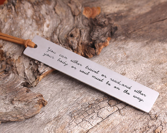 PERSONALIZED BOOKMARK - ENGRAVED BOOKMARK - GIFT FOR READER - CAN BE STAMPED WITH YOUR OWN MESSAGE(China (Mainland))