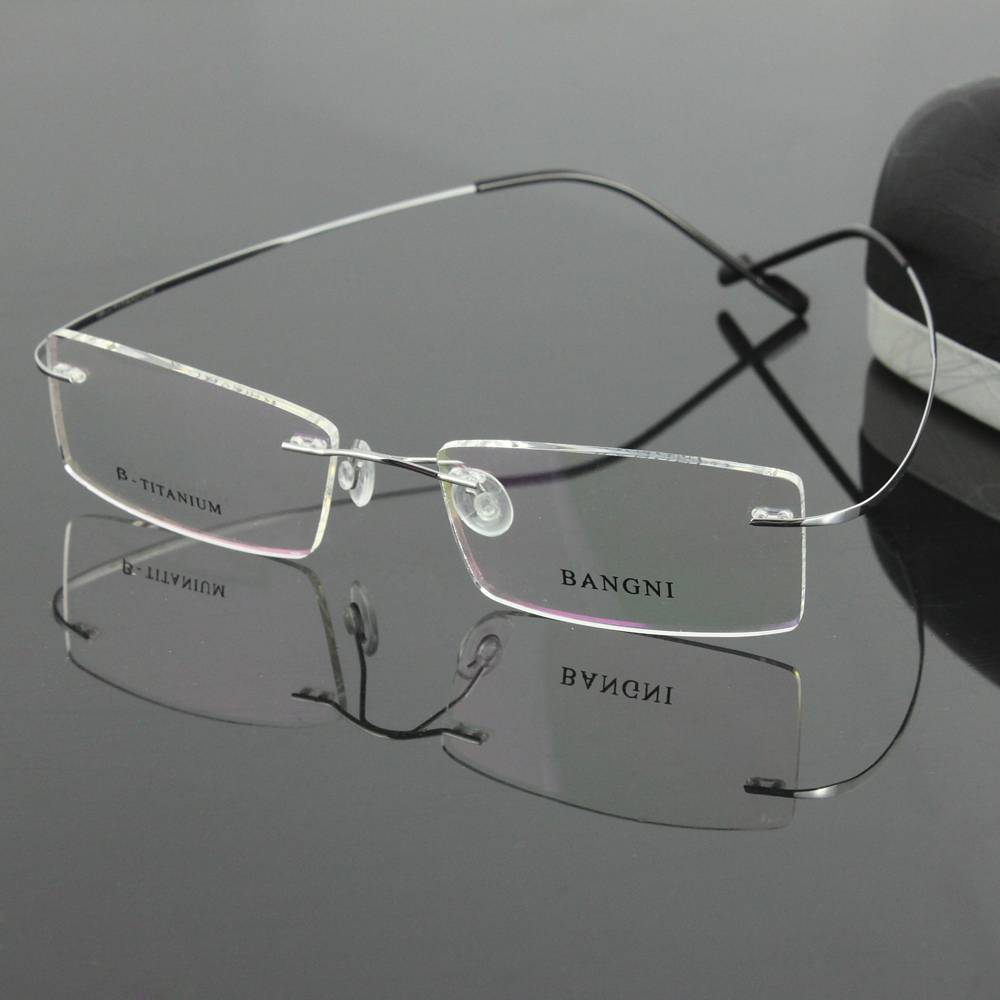 Rimless Glasses No Screws : Aliexpress.com : Buy b titanium hingeless rimless non ...