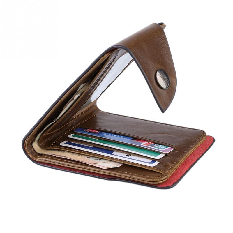 Fashion Mens Wallet PU Leather Bifold Wallet Credit