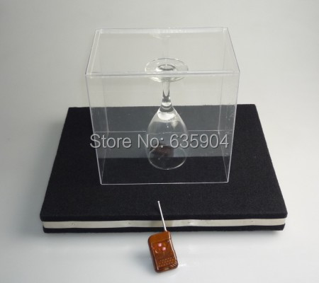 Glass Breaking Tray Pro - Remote Control ,electronic magic tricks,Christmas wholesale magic store(China (Mainland))