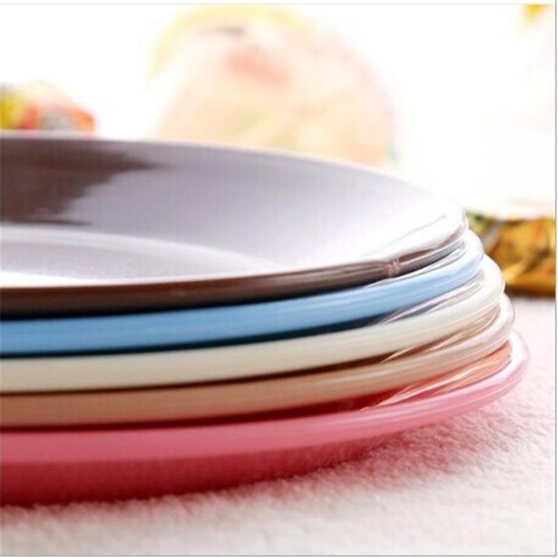 Dazzle colour tableware small dishes Snacks flat plate safe plastic snack plate environmental protection tableware(China (Mainland))