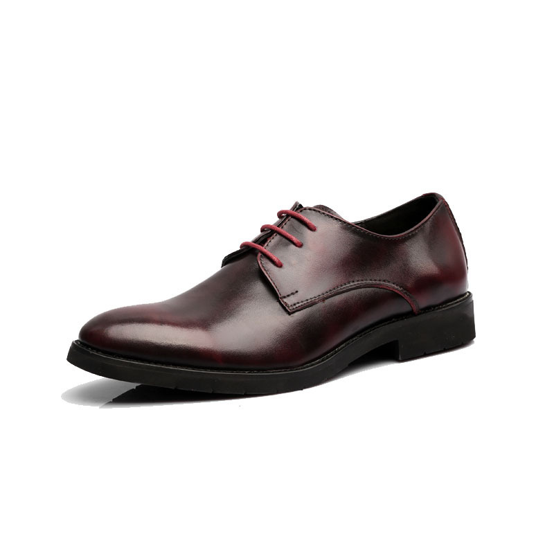 2014 hot Sale Men's Genuine Leather Shoes British Style Vintage Oxfords Pointed Toe Men Oxford Shoes Dress Wedding Shoes RMC-075(China (Mainland))