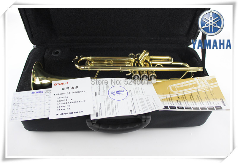 YTR - 2335 adjustable small brass instruments Bb trumpet gold lacquer Professional trumpete with nylon case trompeta mouthpiece(China (Mainland))