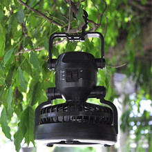 Multi-functional 18 LED Camping Light Portable Lantern Tent Light With Electric Fan 2 In 1 Outdoor Led Camping Lanterns New(China (Mainland))