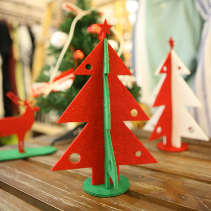 Buy 2pcs mini wooden christmas tree with for Where can i find christmas decorations