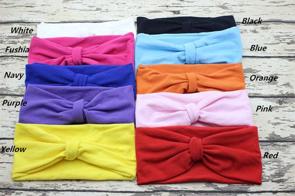 Baby Cotton Headband Newborn Infant Headbands Girl Hair Accessories Baby Tie Headband Knot Headbands(China (Mainland))
