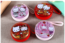 Coin purse Headphone Case Hello Kitty Pouch Carry Bag kawaii purse hard box Key kids Wallet Cute Cartoon Storage bags children