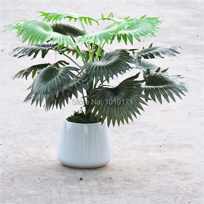 Modern 50cm 18 Leaf Fabric Wedding Home Furniture Table Decor Artificial Coconut Palm Plant Tree no Vase Fake Foliage Green F367(China (Mainland))