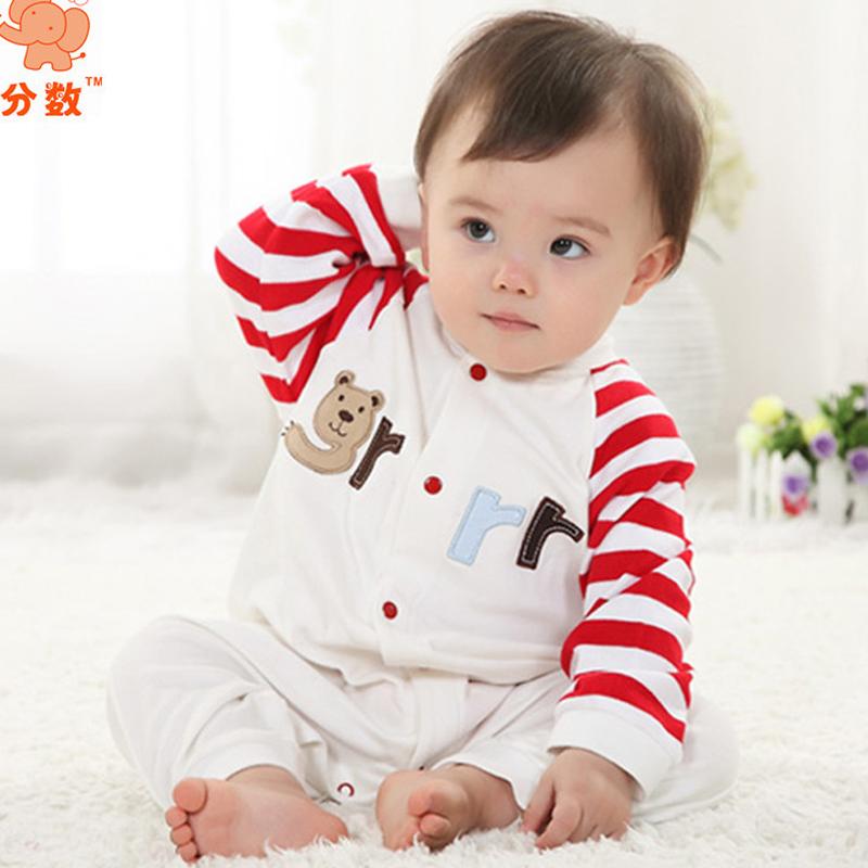 Baby Rompers Clothes Newborn One Piece Infantil Jumpsuit Winter font b Clothing b font Cute Kids