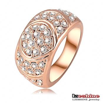Новое поступление обручальное кольцо 18 К розовое золото плиты женщины кольца сделано ...