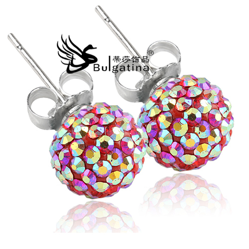 2014 New Famous Brand Jewelry Acessories Brinco Grande Stud 925 Sterling Silver Red Brincos De Perola Punk Earrings - Disha Findings store