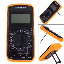 Buy LCD Display Professional Electric Handheld Tester Digital AC DC Multimeter Ammeter Voltmeter Ohm Portable Meter 2 Leads for $9.38 in AliExpress store