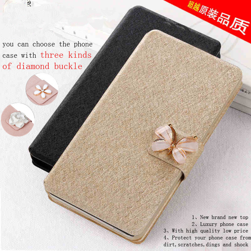 2015 New arrival case cover For NOKIA 520 mobile phone case new luxury flip cover with three kinds of diamond buckle(China (Mainland))