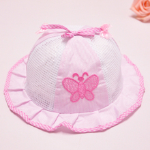 Girls Hat Fashion Bucket Hats For Girls Beautiful Girls Mesh cap Kids Caps Girls Clothing Free Shipping