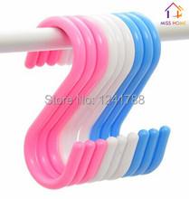 (9 pcs/lot Big Size) Plastic Organizer S Shape Hangers Multi-purpose S Hooks Clasp Holders  (MH-1095)(China (Mainland))