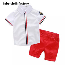 Fashion New Spring&Autumn Baby Boy Clothes Set tide boy  Blouse+shorts Suit Kids Boys Clothing Set Children Boy for 2-6y baby(China (Mainland))
