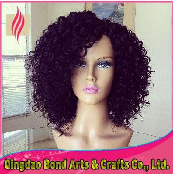 Short hair wigs for black women kinky curl brazilian virgin short human hair front lace wigs glueless full lace wigs 130%density