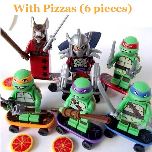 Гаджет  6PCS/Set Teenage Mutant Ninja Turtles TMNT Minifigure Building Blocks Figure Kids Toys Bricks Super Hero Lego Compatible C0A255 None Игрушки и Хобби