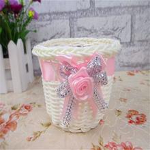 2016 Plastic Rattan Wicker  Vase Wedding Decoration Wedding Home Decoration  Vase  (No Flowers) Free Shipping 6HD014(China (Mainland))
