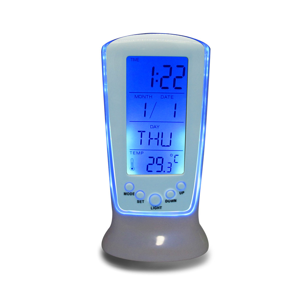 Digital Luminous LED Multifunction Alarm Clock (Snooze calendar thermometer),Children Bedside Desk Clock(China (Mainland))