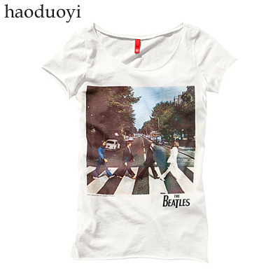 Camisetas Tops Tshirt 2015 Special Offer Promotion Cotton Regular None Animal Haoduoyi Van Beatles T-shirt Classic 6 Code(China (Mainland))