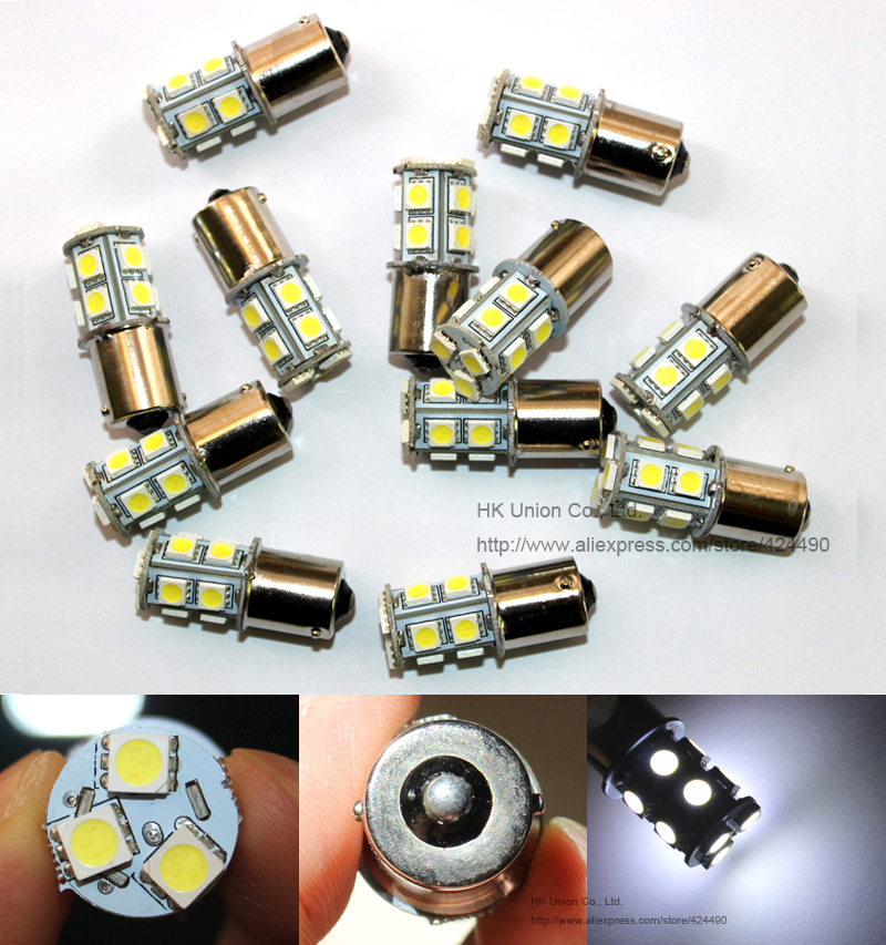 1156 BA15S BAU15S 1157 BAY15D P21W LED 13SMD 5050 Brake Tail Turn Signal Light Bulb Lamp DC 12V Whte red yellow blue - HK Union Co., Ltd. store