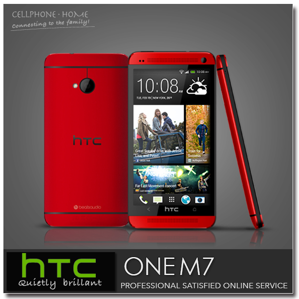 """Original HTC ONE M7 Unlocked 32GB Quad-Core 4.7"""" IPS 1920*1080p Full HD 4MP 3G WIFI Mobile Phone Android 4.4 Telefonos Moviles(China (Mainland))"""