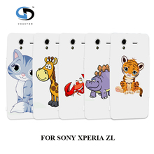 Phone Case New Zhang Cute Giraffe Crab Hybrid White Hard Cases Sony Xperia ZL - ocproduct store