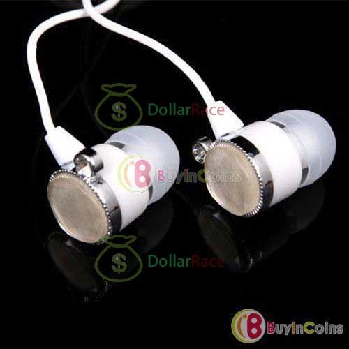 Dollarace Mini Elecom EHP-AIN90 C Crystal Diamond Ear Drops Earphones Headphones(China (Mainland))