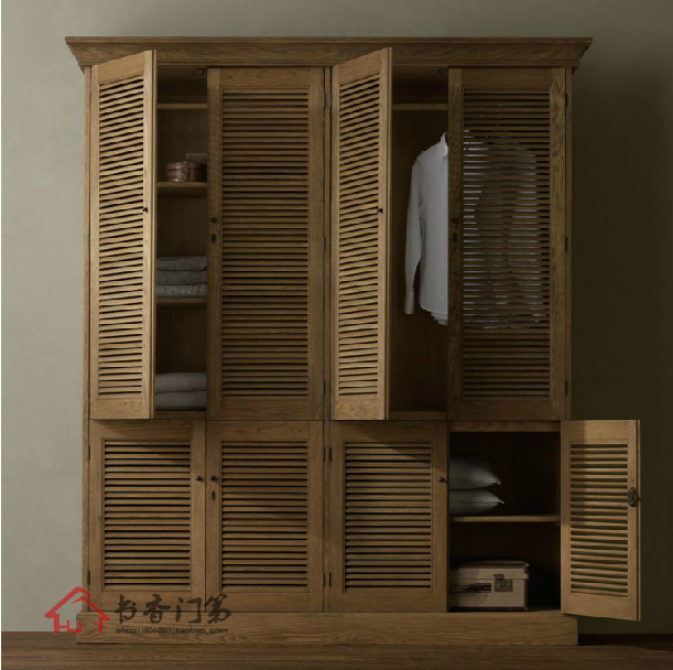 Wooden Wardrobe Styles : furniture is solid wood wardrobe cabinet bedroom cabinet wardrobe ...