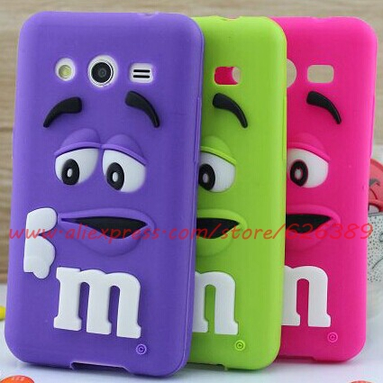 For Samsung Galaxy Core 2 G355H Soft Rubber Silicone M&M'S Chocolate Cell Phone Back Case Cover Skin(China (Mainland))