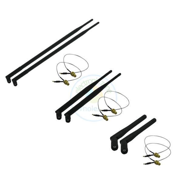 2 2dBi + 2 6dBi + 2 9dBi RP-SMA Antenna + 6 U.fl female cable for Netgear Wireless Router N900(China (Mainland))