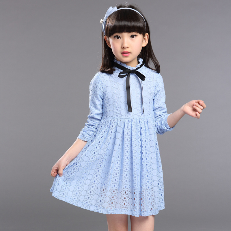 Autumn Long Sleeve Toddler Baby Girls Dresses Cotton Teenage Butterfly A-line Children Clothing Princess Kids Girls Clothes(China (Mainland))