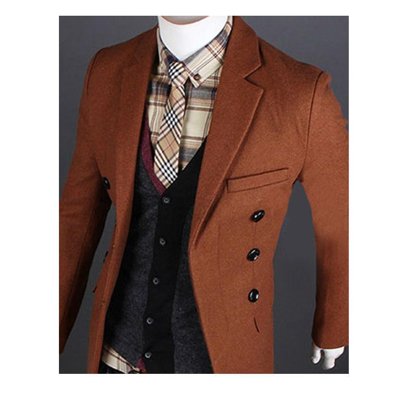 Woolen Coat Men Jaqueta Male Autumn Winter Warm Men Clothes Outdoor Overcoat Windbreaker Men Jacket Casual