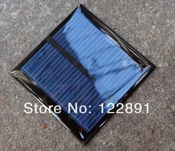 Wholesale! 20pcs/lot Solar Panels 5.5v 0.6W Mini Solar Cell 65x65MM For Small Power Appliances Drop Shipping Free Shipping