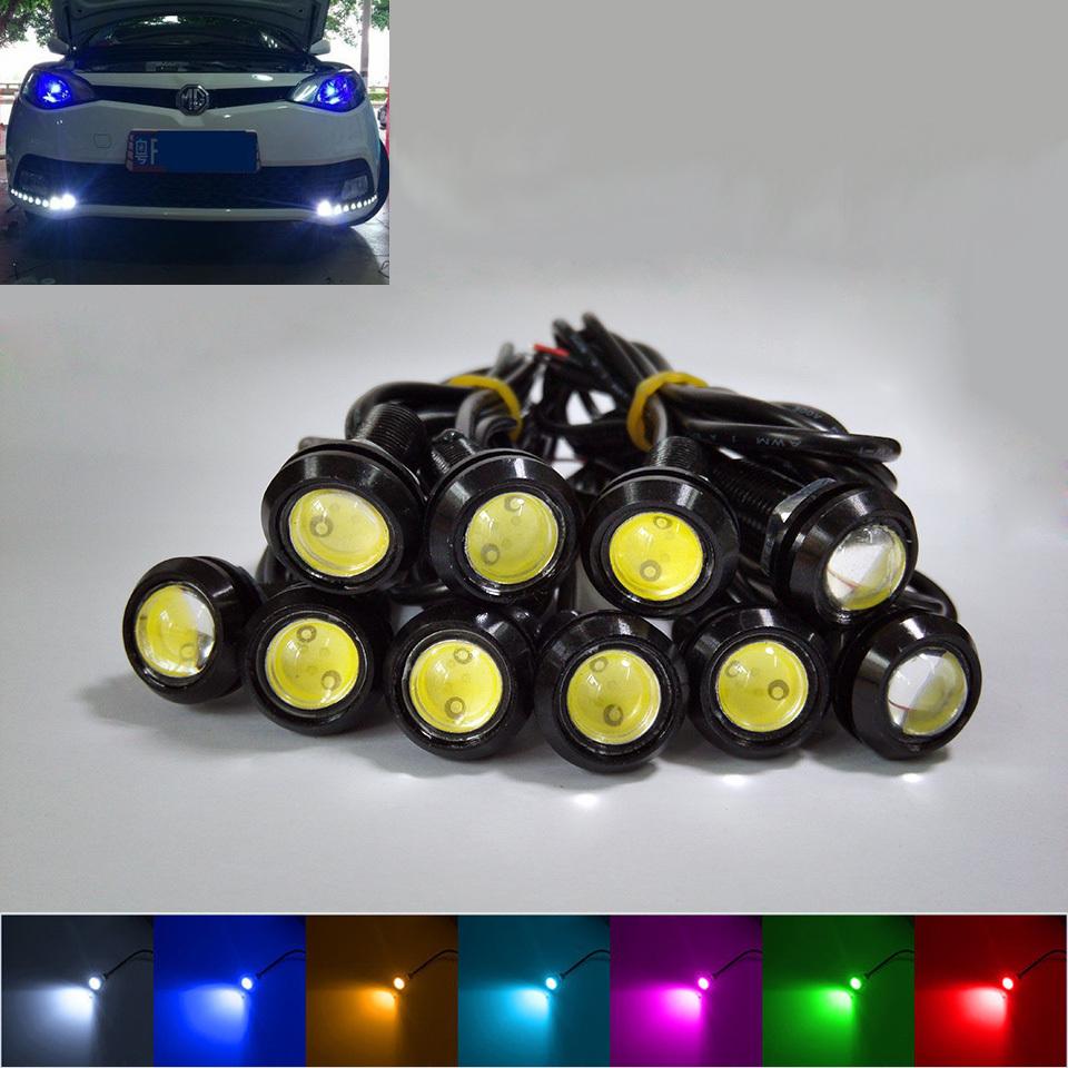10pcs High Brightness DRL 18mm Eagle Eyes Daytime Running Light LED Car Work Lights Source Waterproof Parking Lamp Car Styling(China (Mainland))