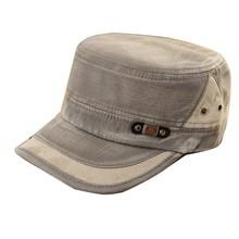 2015 New Mens Women Adjustable Army Vintage Hat Plain Cadet Military Baseball Cap
