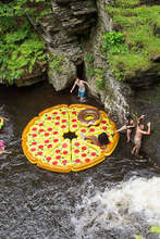 180cm Inflatable Pizza Water Floats Island Lake Pool Air Raft Summer Inflatable Swimming Rings 8pc Pizza +1pc 130cm Donut Gift(China (Mainland))