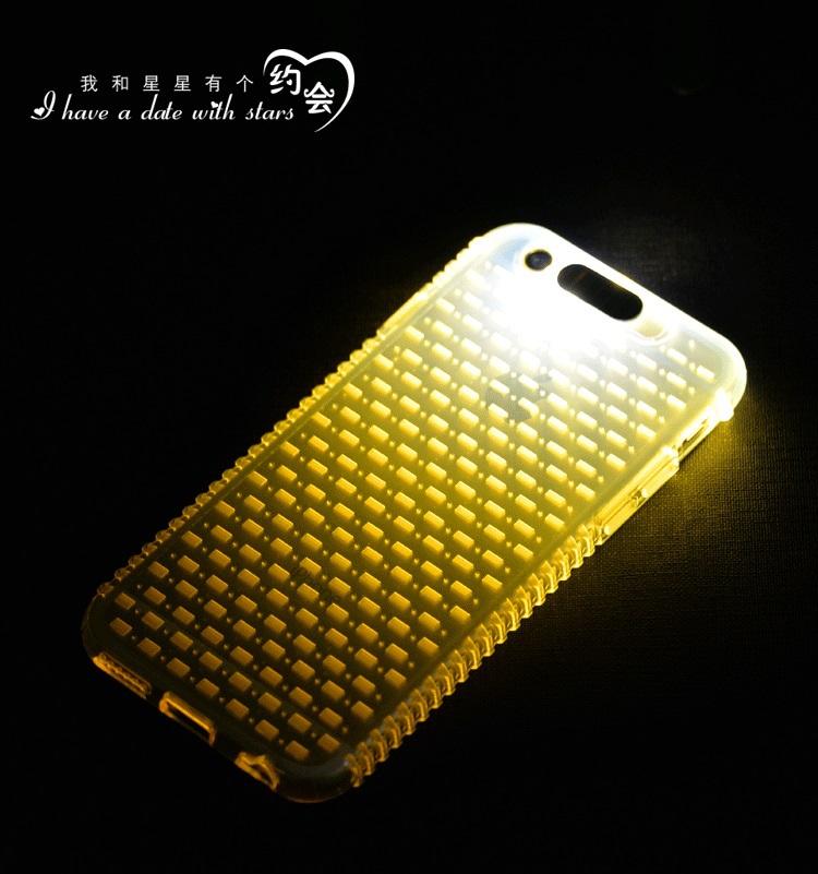 Shiny LED Flash Lighting case For Apple Iphone 4/5/6/6 plus Luminous Glitter Crystal Mobile Phone Cover(China (Mainland))