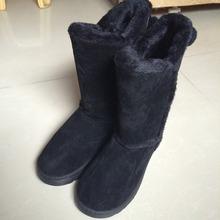 Hebilla del Slip On mujeres invierno botas para la nieve botas conciso piel de invierno botas mujer invierno ronda dedo del pie mujeres Flats moda zapatos de cuero(China (Mainland))