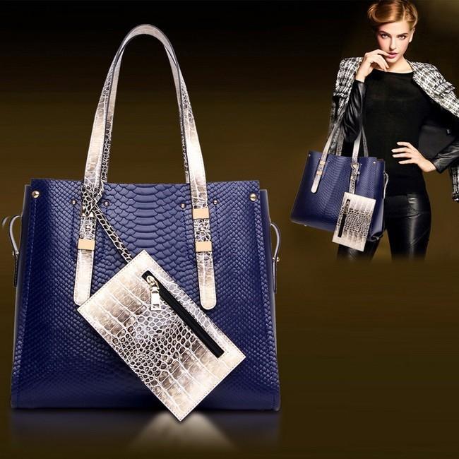 Fashion Messenger Tote Women's Shoulder Bags Snakeskin Bag Suit