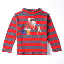 FREE SHIPPING A3023# Blue 18m/6y 4pieces /lot printed lovely cartoon character boy spring autumn long sleeve T-shirt