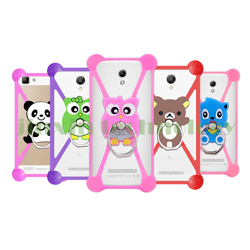 New Cartoon Ring Stand Holder Soft Silicone Case For Prestigio Wize E3 Cell Phone 3.5 - 5.5 Inch Bumper Frame Cover(China (Mainland))