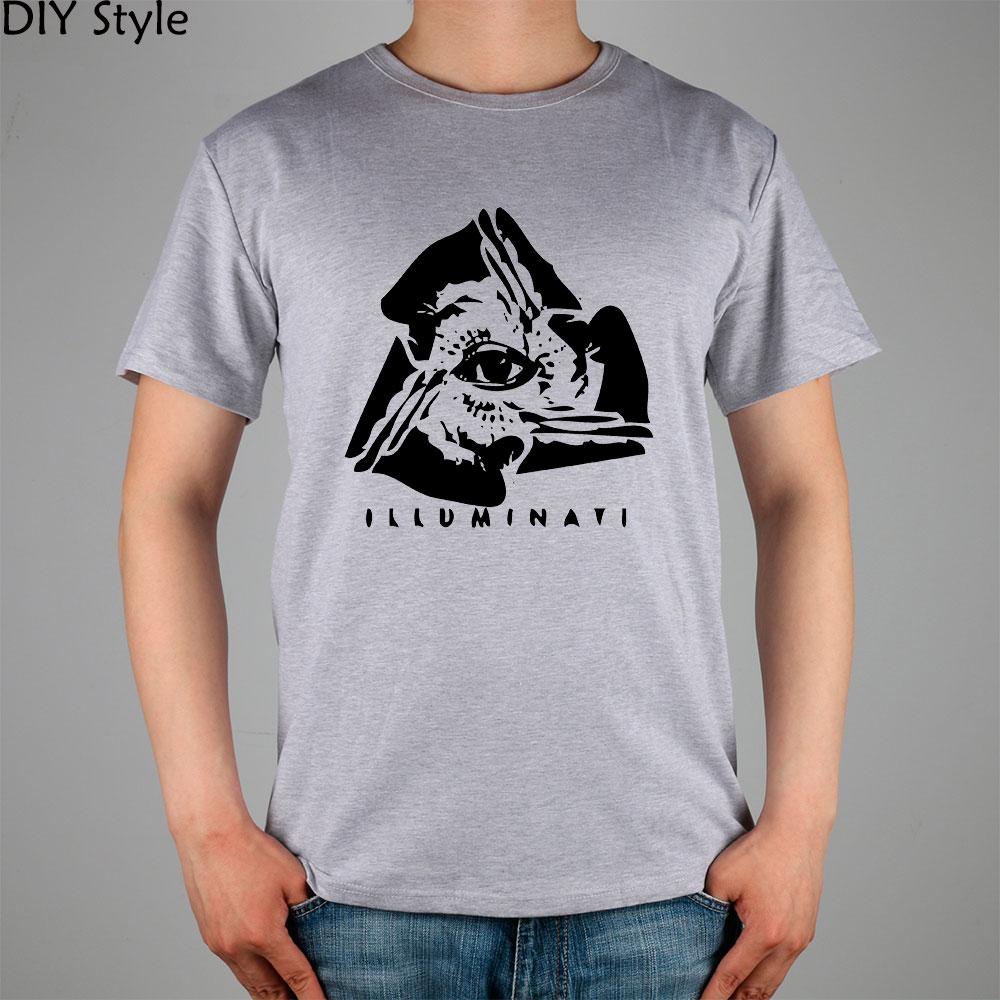 Illuminati logo t shirt cotton lycra top 2824 fashion for Top t shirt brands