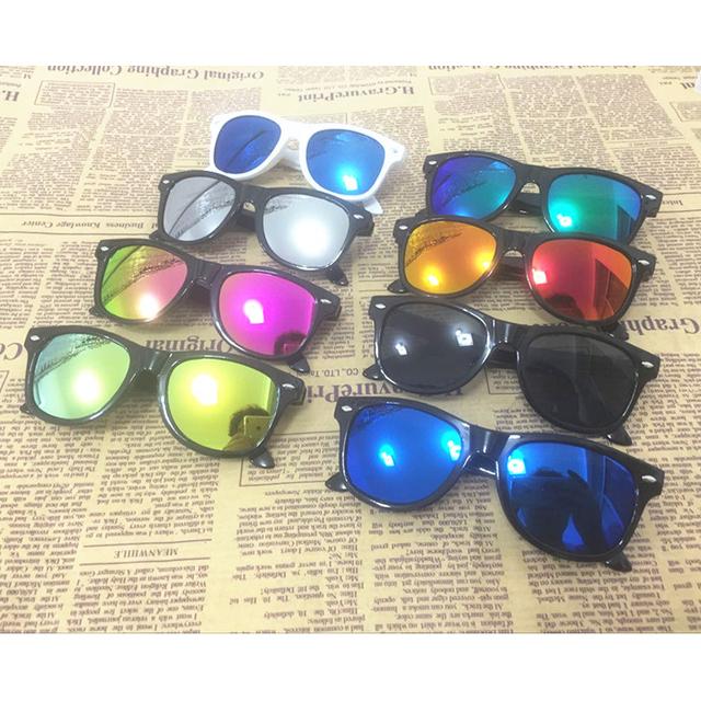 2016 Детей ПК солнцезащитные очки Светоотражающие Спорт Многоцветный Дизайн вдохновение Очки Мальчики/Девушки Óculos очки оптом