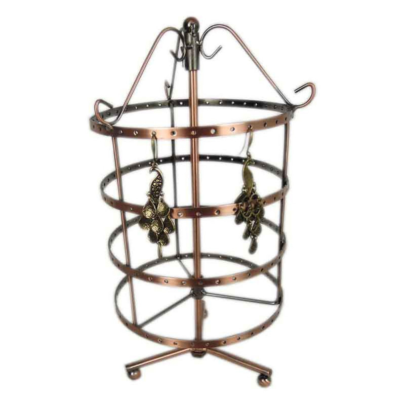 2016 New Design Jewelry Holder Earrings Bead Necklace Bracelet Revolving Round Display Stand Holder Fine Jewelry Accessories Top(China (Mainland))