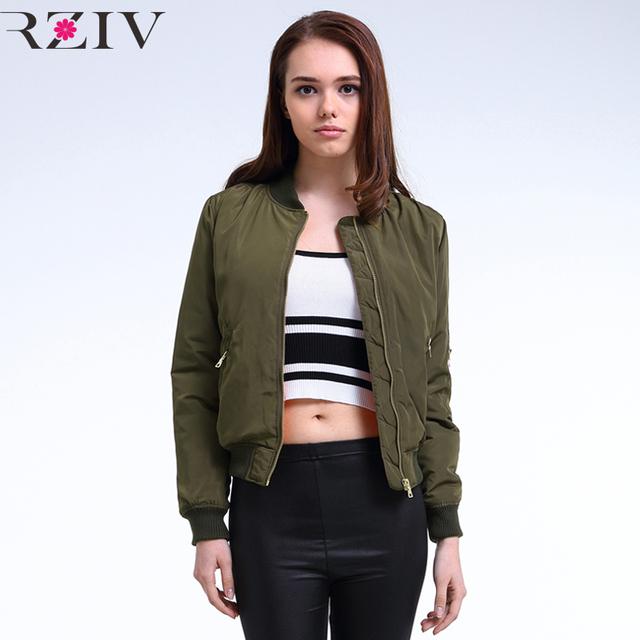 2016 зима полета армия зеленый куртку женщины куртка и женские пальто одежды бомбардировщик ...