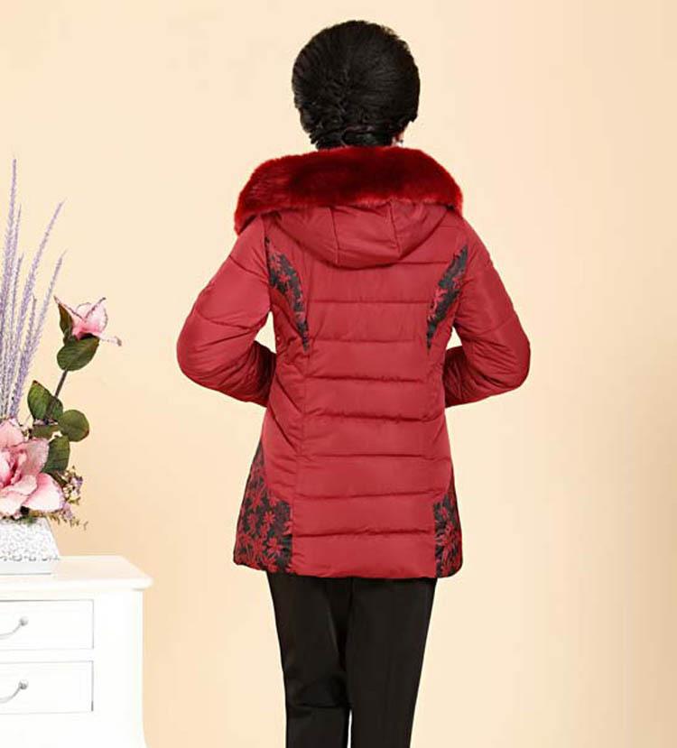 Скидки на (Бюст) 2015 новой Корейской версии тонкий утолщение Среднего Возраста и старых хлопка одежды длинный пуховик мать пальто